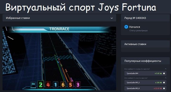 Ставки виртуальный спорт Джойс Фортуна